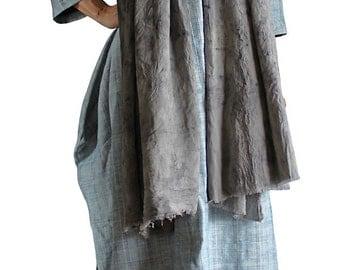 Eucalyptus dyed Cotton Stole (TX-077-04)