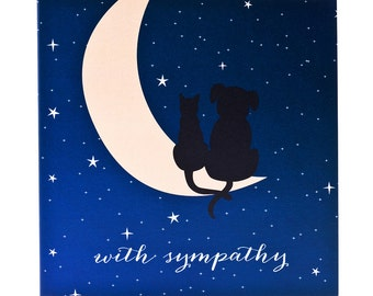 Pet Sympathy Card - 5x5 - Dog and Cat Condolence Card