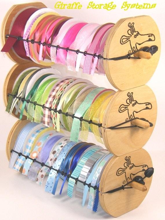 Giraffe Ribbon Organizers (3 pack) - Portable, Stackable, Super Cute & Versatile