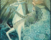 Snow Queen Winter Solstice Yule Goddess 5x7 Greeting Card