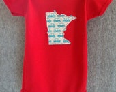 custom state red cars onesie or tee infant toddler