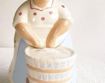 Vintage Cookie Jar 'Washtub Mammy' Jazz'e Junque' Gale Gerds Kitchen Kitsch