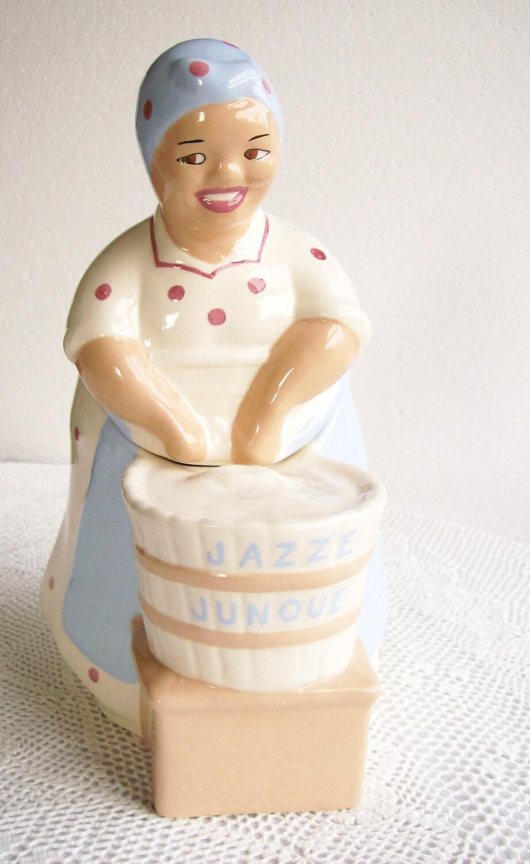 Vintage Cookie Jar Washtub Mammy Jazz E