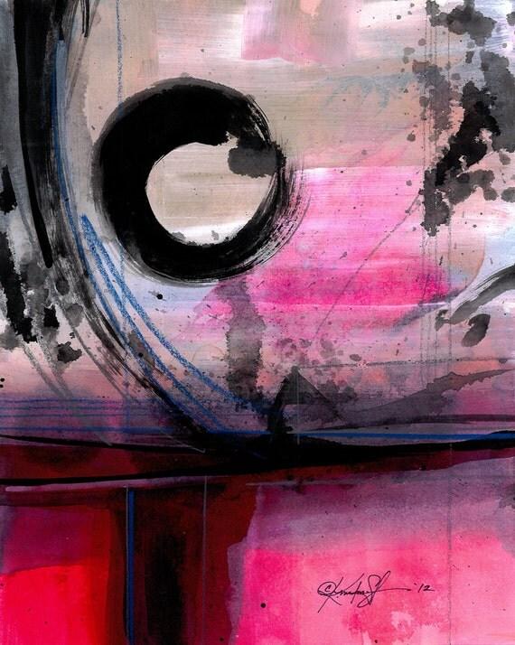 Original Enso Zen Painting Throw Pillows: Enso Abstraction Series . 100 ... Original Zen Circle Water