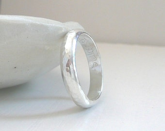 Sterling Silver Hammered Dome Band by Stilosissima - California