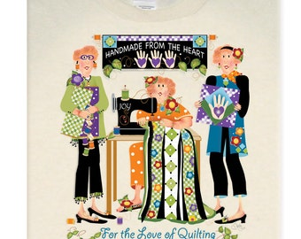 Handmade from the Heart T-Shirt for Quilters