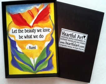 Let the Beauty We Love RUMI Inspirational Quote Motivational Print Yoga Meditation Women Support Gift  Heartful Art by Raphaella Vaisseau