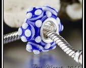 SALE--40% Off  COPENHAGEN handmade European style large-hole lampwork bead by Teri Moore SRA