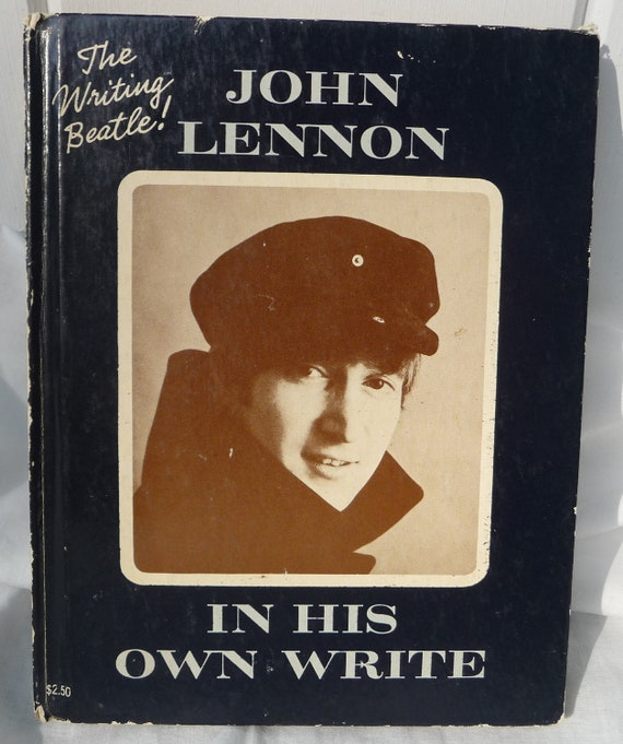 RESERVED for Nicole 1964 John Lennon Illustrated Book - In His Own Write - The Beatles -1st US Edition - Hardcover