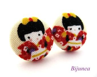 Geisha earrings - Geisha Kimono earrings - Geisha stud earrings - Geisha posts - Geisha post earrings sf914