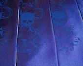 Wedding necktie, something blue distressed skull tie by RokGear