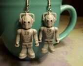 Whovian Cyberman Earrings