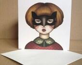 Surrender - Masked Fox Girl - Tamer Animals Greeting Card