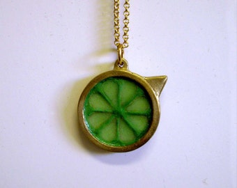 Glowing Skyward Stamina Meter Pendant -  brass video game jewelry