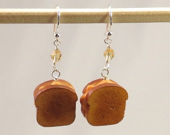 Miniature Grilled Cheese Sandwich Earrings