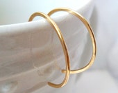 "Tiny 14Kt Gold Hoop Earrings, reverse hoop earrings, minimalist, 1/2"" inch hoops, 14 karat gold hoops"