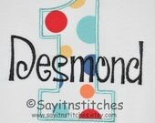 Personalized Birthday shirt or bodysuit, Number 1-9 available, Different Fabrics available, 1st birthday shirt, party shirt