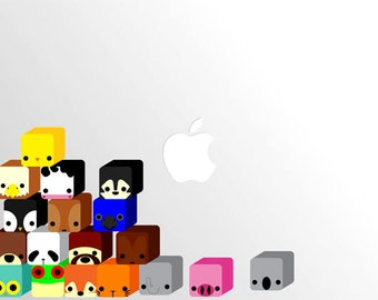 Cute Cube Animals  Decal