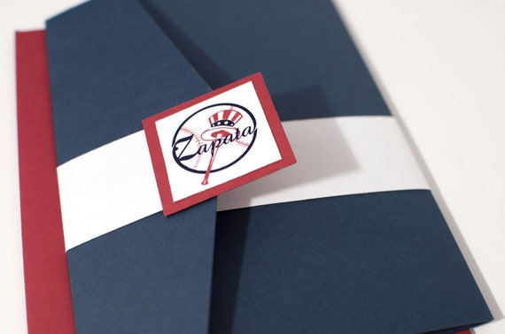 Baseball Team Themed Vintage Inspire Wedding Invitation Suite - Customized to your Favorite Team
