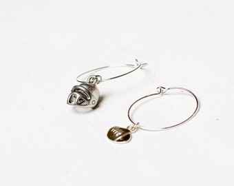 Football Party - Set of 2 Wine Charms