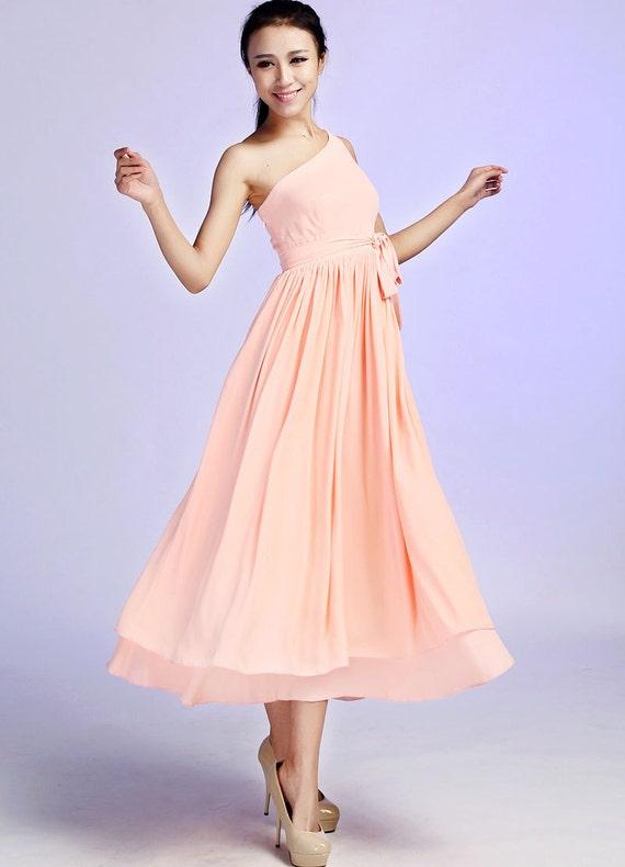 Wedding dress maxi dress long dress peach dress (625)