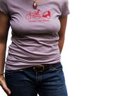 SHARE THE ROAD Womens Short Sleeve Tee (m, l, xl)