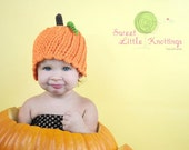 Little Pumpkin Hat - CUTE - Perfect for Autumn and Halloween - Straight or scalloped edge - Sizes up to 3 years