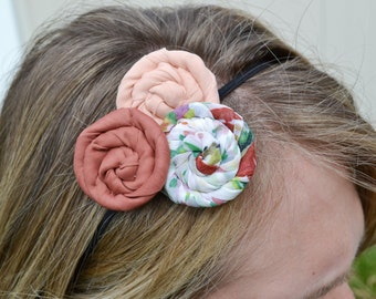 Pretty in Pink Rosette Headband