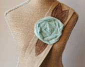 Headwrap Headband // Sand & Light Turquoise Rose / Day at the Beach