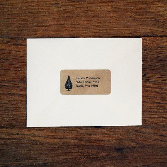 Custom Return Address Labels - Tree Address Labels, Holiday Address Labels, Rustic Wedding, Winter Wedding