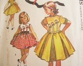 McCalls 2090 Girls Party Dress 1950s Vintage Sewing Pattern Size 8