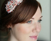 Adult Headband in Autumn Polka Dot, Shabby Chic Flower for Girls and Women