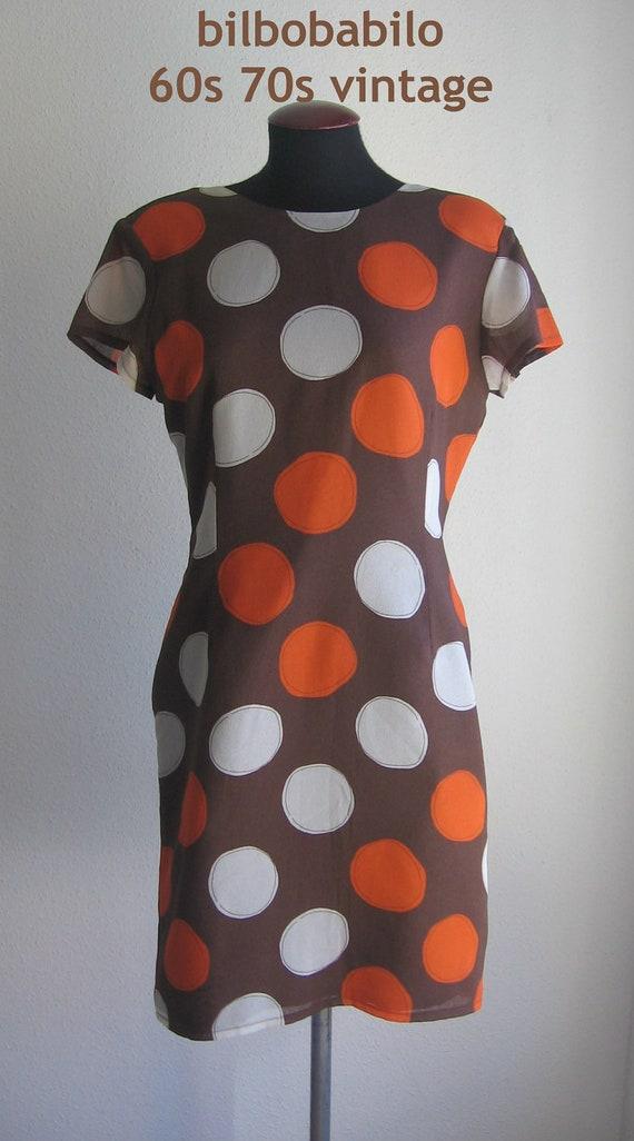 SALE 70s 80s vtg dotted dress