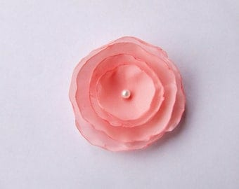 "Fabric flower 2"" flower decorating embellishing flower applique"