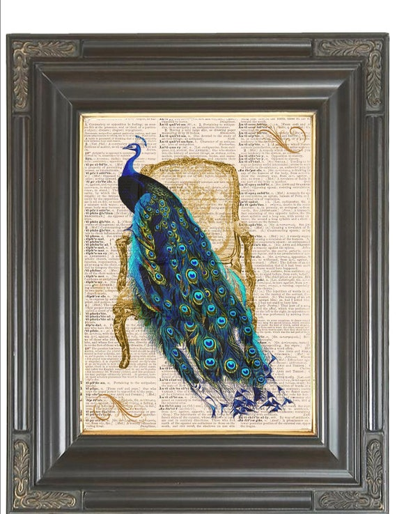 Bogo Sale Teal Peacock French Chair Printed As By Bmarinacci