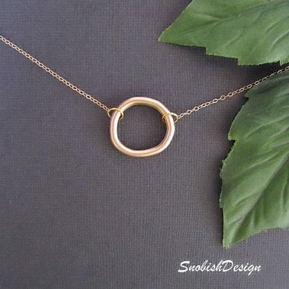 Circle Necklace, Gold Necklace, Mothers Necklace, Best Friend Gifts, Sister Necklace, dainty necklace, Simple Necklace, Eternity Necklace