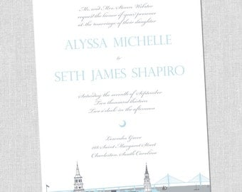 Charming Charleston Wedding Invitation Set -  SAMPLE SET
