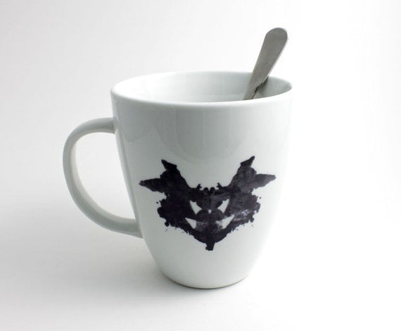 Psychiatrist Rorschach Coffee Mug - Coffee Cup with Black and White Ink Blot