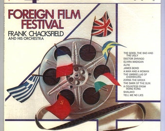 Foreign Film Festival Frank Chackfield and his Orchestra London Phase 4 Stereo LP Vintage vinyl Record Album