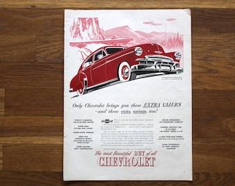 Vintage August 29, 1949 Chevrolet Car Advertisement Life Magazine