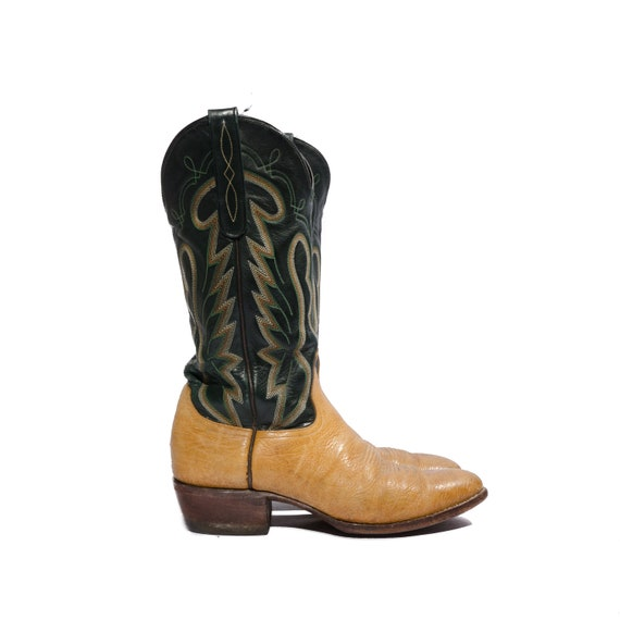 f0615df33cd Vintage Justin Snake Skin Cowboy Boots With Off White Leather ...