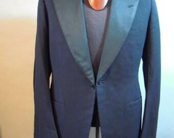 Vintage, 1940s Tux Jacket // B. BERNARD // Wool // Satin Lining // Formal // Prom...Med/lg