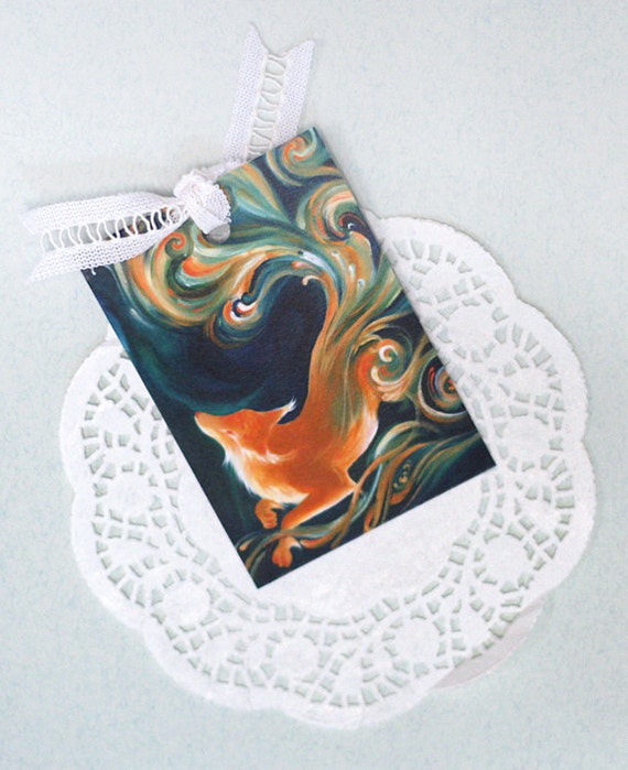 BOOKMARK: Fox Spirit (7x10 cm, with ribbon)