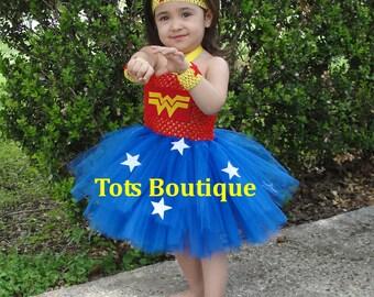 Infant- Wonder Woman Inspired Tutu Dress