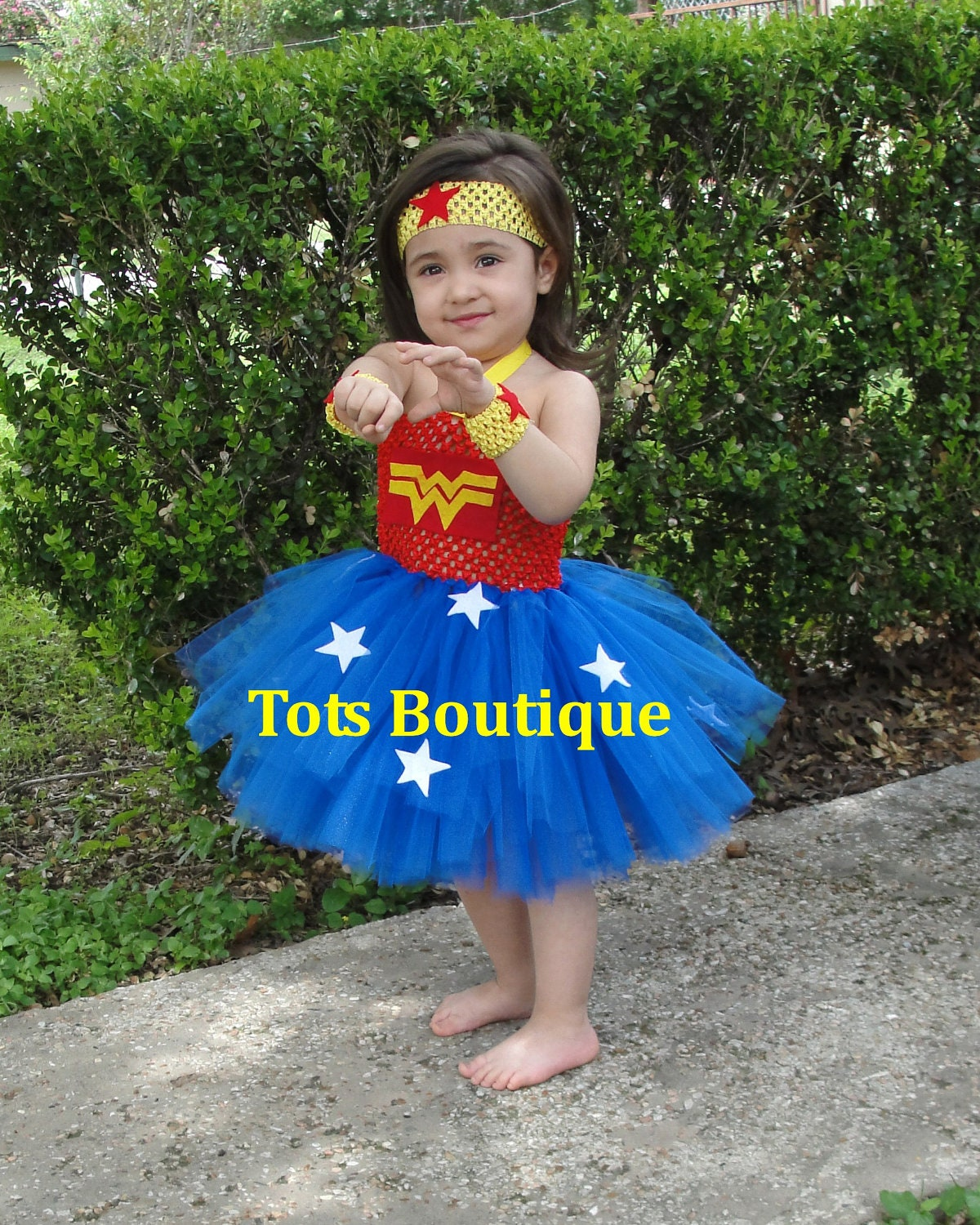 Infant Wonder Woman Inspired Tutu Dress