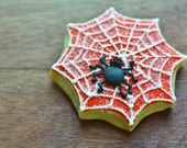 Halloween Spider Web Decorated Sugar Cookies