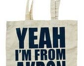 Yeah I'm From Akron - Natural Canvas Tote