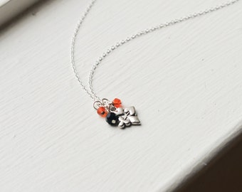 The Gambler's Necklace- Sterling Silver Chain - Hearts, Clubs, Diamonds, Spears- Deck of Playing Cards- Poker, Black Jack