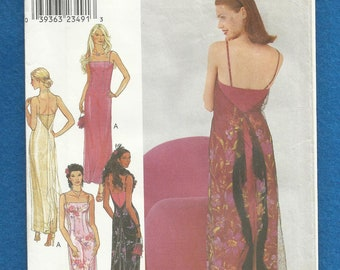 Style 1057 Fitted Straight Evening Dress with Sheer Overlay and Thin Shoulder Straps Sizes 6 - 16 UNCUT
