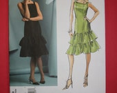 RESERVED for Shel - Vogue 2878 Oscar de la Renta, UNCUT Sewing Pattern For Cocktail or Party Dress, Sizes 6 8 10